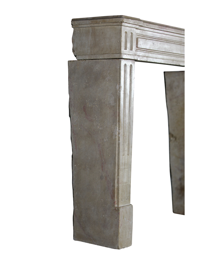 Small French Fireplace Mantle In Bicolor Hardstone