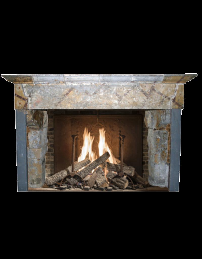 Maison Leon Van den Bogaert Antique Fireplaces & Vintage Architectural Elements Massives Französisch Landstil-Art-Antike Kamin Maske In Hartem Kalkstein