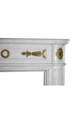 The Antique Fireplace Bank Ein Statuarisch Weißer Marmor Französisch Jahrgang Kamin Maske Mit Messing
