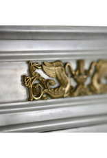 The Antique Fireplace Bank A Statuary White Marble French Vintage Fireplace Surround With Brass