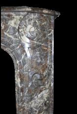 Außergewöhnliche Breite Klassische Belgische Antike Kamin Maske