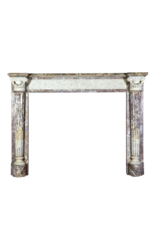 18Th Century Grand Quality Bicolor Marble Antique Fireplace Surround