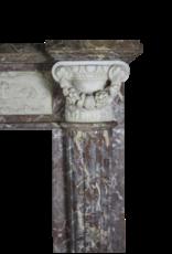 The Antique Fireplace Bank 18Th Jahrhundert Großartige Qualität Zweifarbig Marmor Antik Kamin Maske