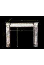 The Antique Fireplace Bank 18Th Century Grand Quality Bicolor Marble Antique Fireplace Surround