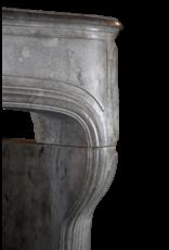 Groß 18. Jahrhundert Französisch Antik Kamin Maske In Französisch Bleu Grau Hart Kalkstein