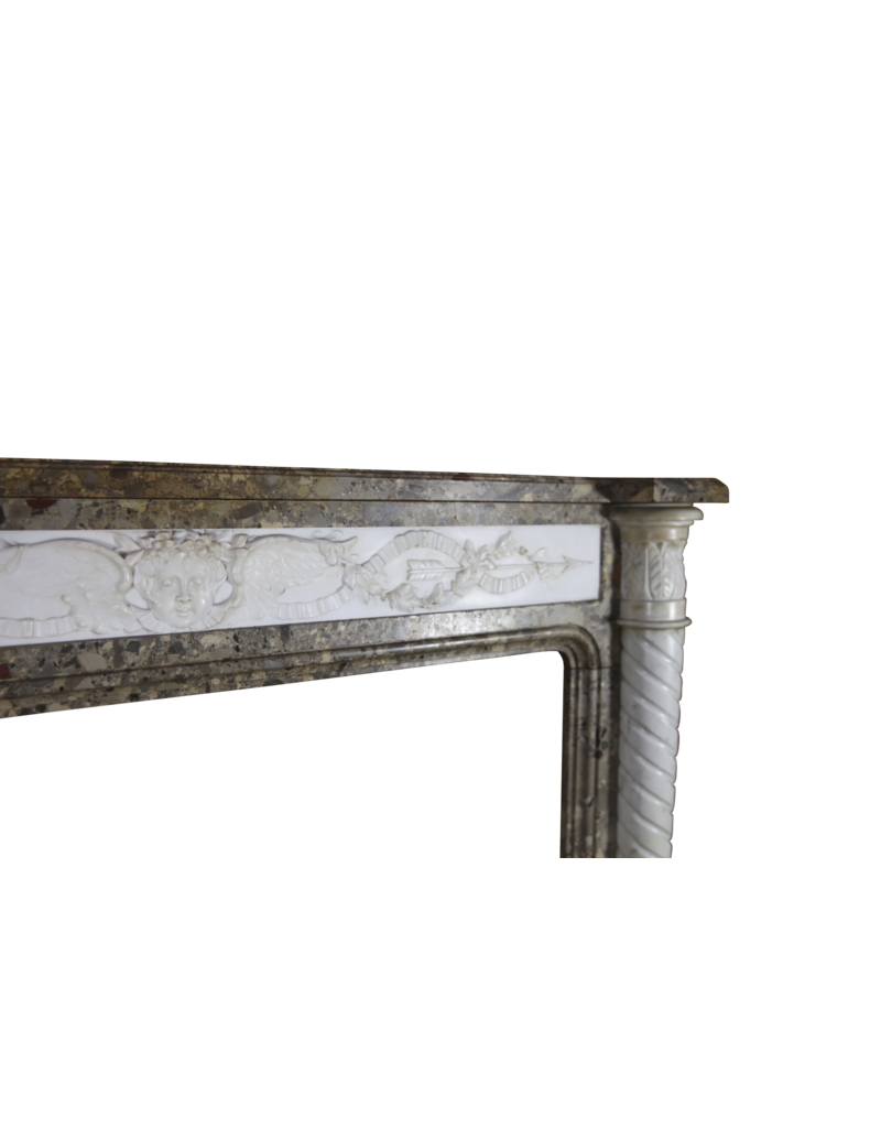 Delicate Chique French Antique Fireplace Surround