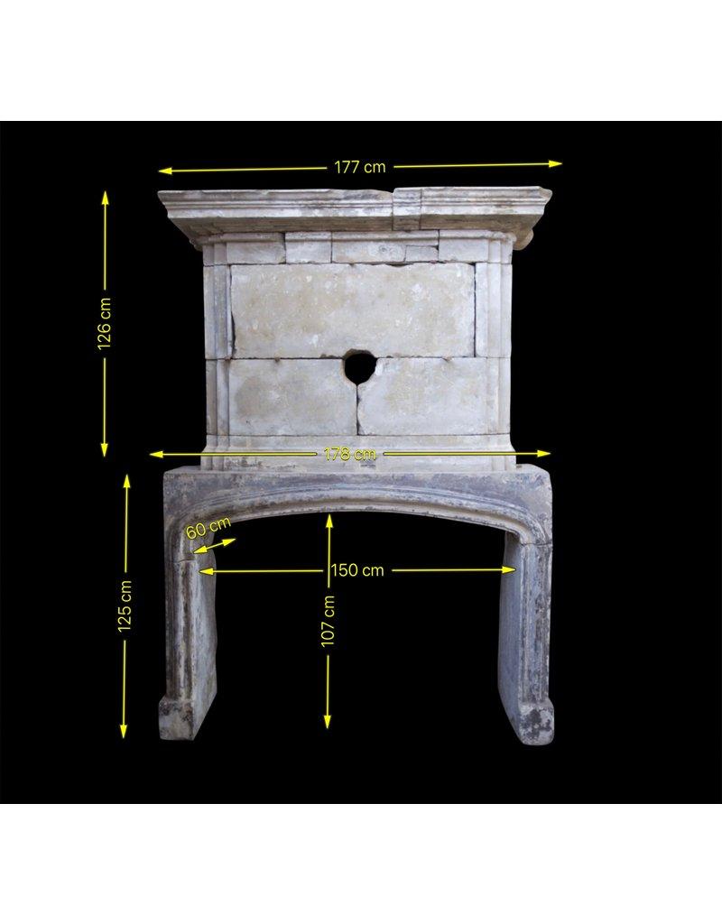 Französisch Des 16. Jahrhunderts Periode Kalkstein Antike Kamin Maske Mit Ober Kamin