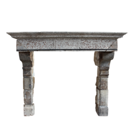 Grand 16Th Century French Country Style Antique Fireplace Surround