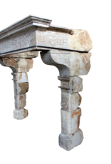 Gran Siglo 16 Francés País Estilo Antiguo Chimenea
