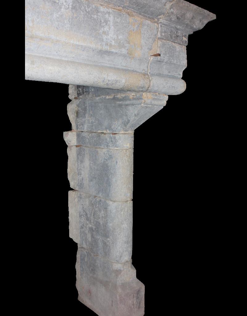 Groß Französisch Jahrgang Kamin Maske In Hartem Kalkstein