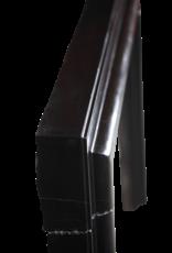Groß Black Belgischen Marmor Bolection Kamin Maske