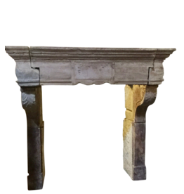 French Renaiscance Period Antique Fireplace Surround In Limestone
