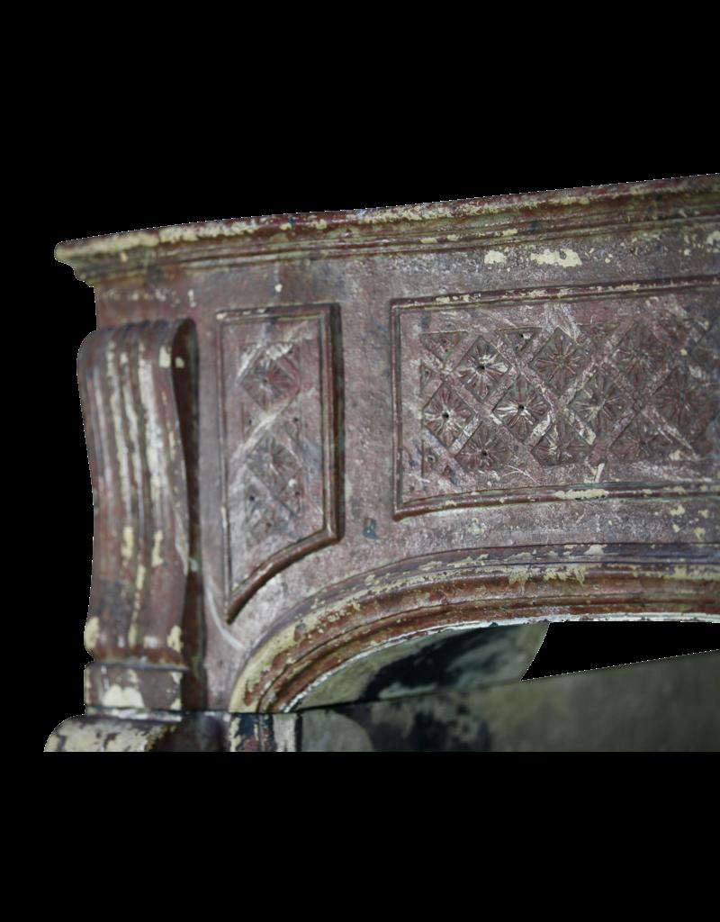 Groß 18. Jahrhundert Französisch Land-Art-Antike Kamin Maske