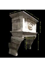 Starkes 17. Jahrhundert Französisch Antike Kamin Maske Im Kalkstein