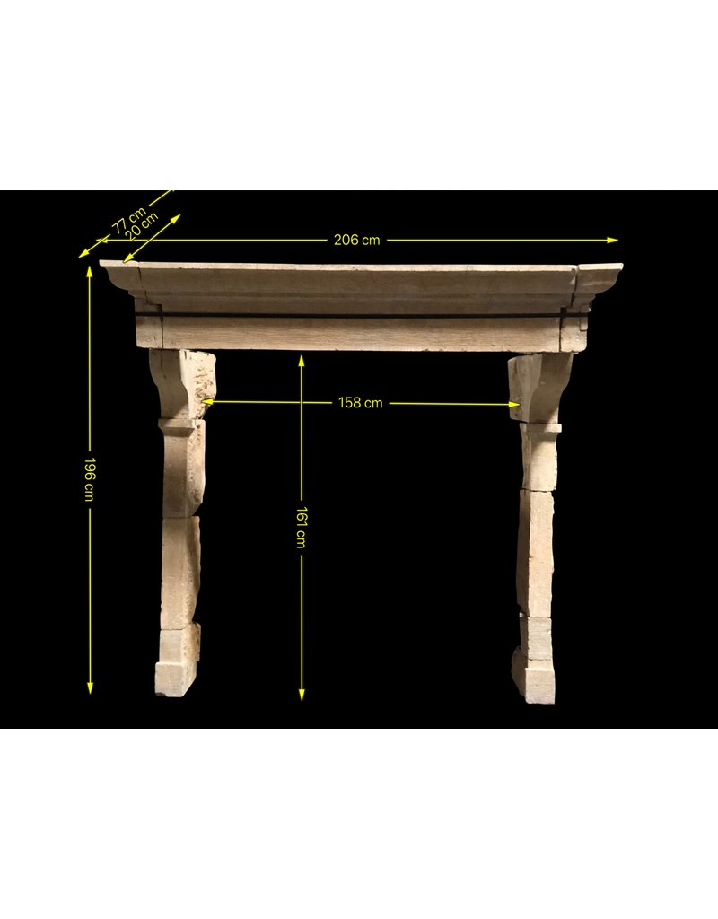 17Th Century French Country Limestone Fireplace Surround