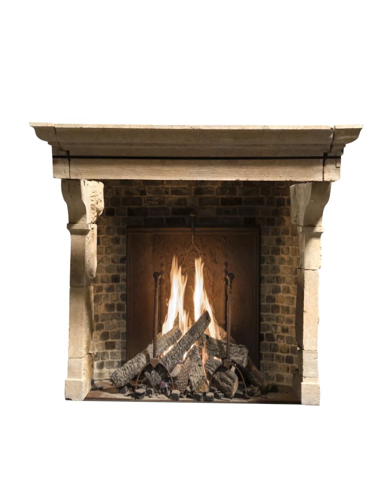 The Antique Fireplace Bank 17. Jahrhundert Französisch Landstil Kalkstein Kamin Maske