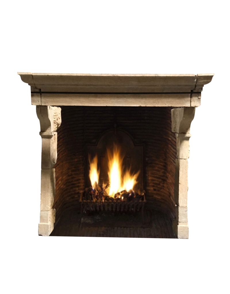 The Antique Fireplace Bank 17Th Century French Country Limestone Fireplace Surround