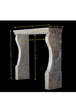 Renaiscance Period Hard Stone Antique Fireplace Surround