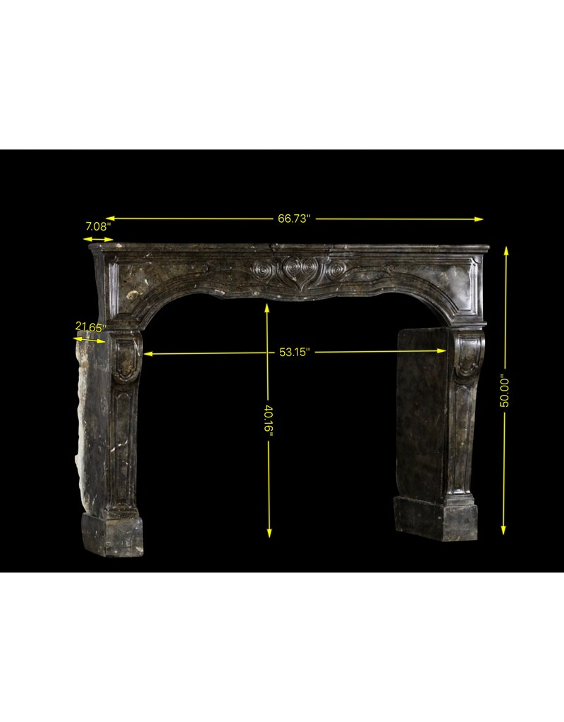The Antique Fireplace Bank 17Th Century Chique French Fireplace Surround In Dark Fossil Stone