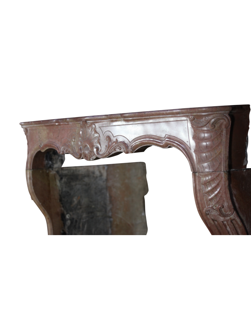 The Antique Fireplace Bank 18Th Century Bicolor French Antique Fireplace Surround