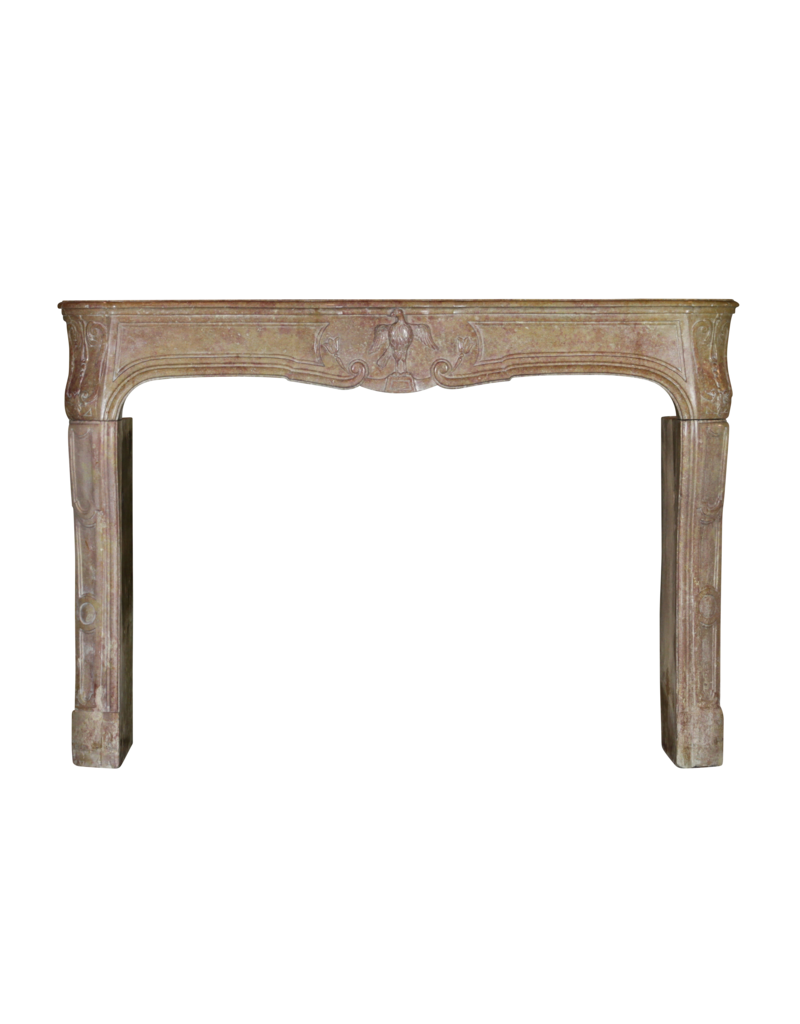 French 18Th Century Period Bicolor Antique Fireplace Surround