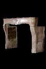 Französisch Des 18. Jahrhunderts Periode Zweifarbig Antike Kamin Maske