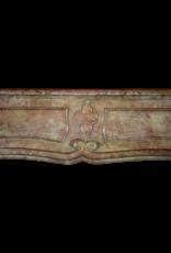 Francés Del Siglo 17 Período De Borgoña Bicolor Chimenea