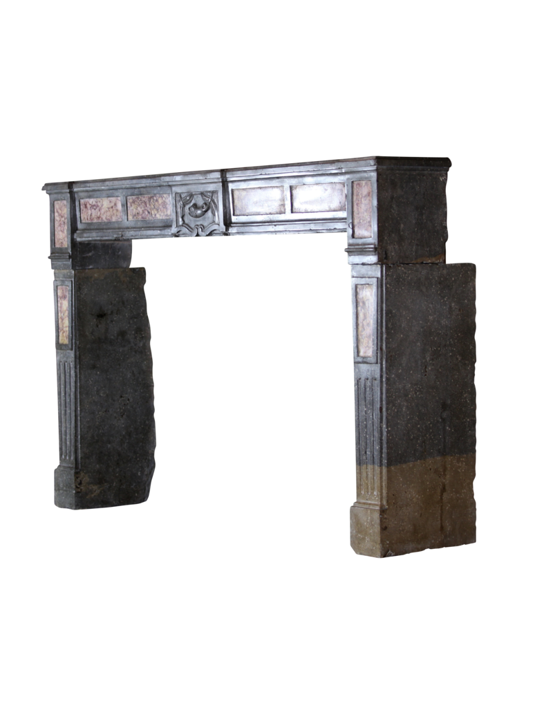 The Antique Fireplace Bank Bicolor French Antique Stone Fireplace Surround