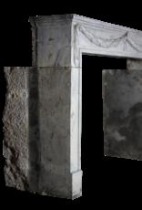 Groß 18. Jahrhundert Französisch Bleu Hartstein Antike Kamin Maske