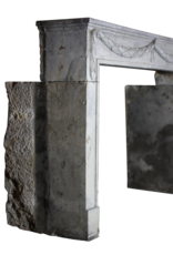 The Antique Fireplace Bank Groß 18. Jahrhundert Französisch Bleu Hartstein Antike Kamin Maske