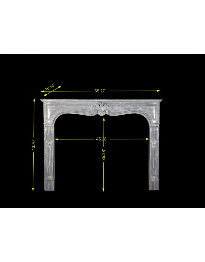 The Antique Fireplace Bank Fine Classic French Vintage Marble Fireplace Surround