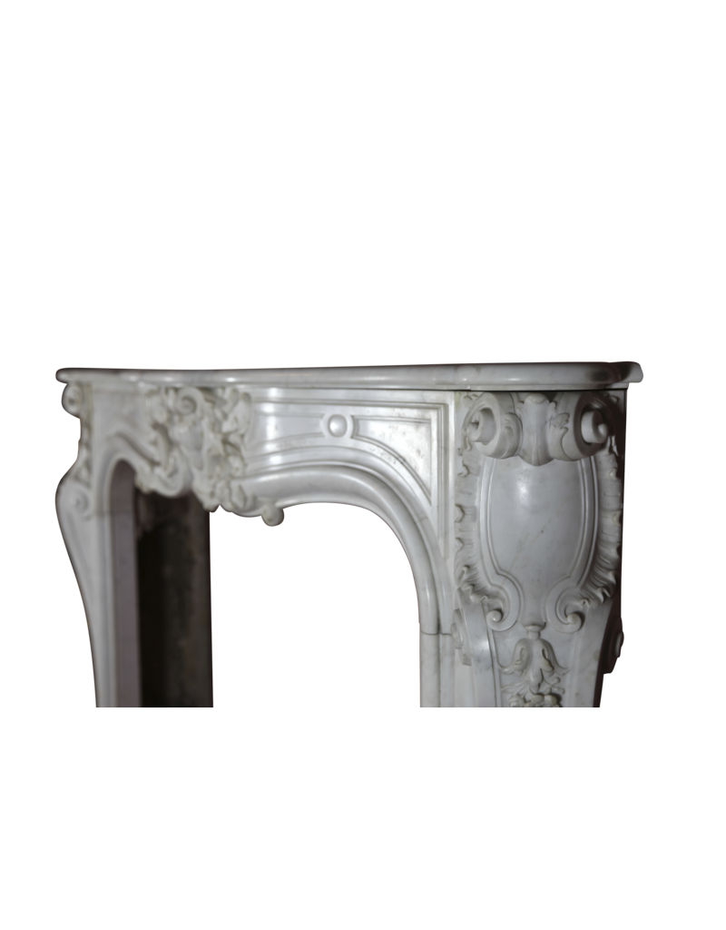 The Antique Fireplace Bank French 18Th Century Period White Statuary Marble Fireplace Surround