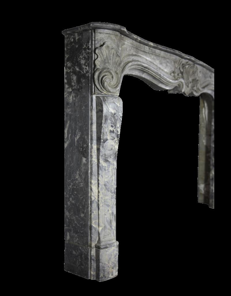 18. Jahrhundert Große Belgische Antike Kamin Maske In Oxidate Marmor