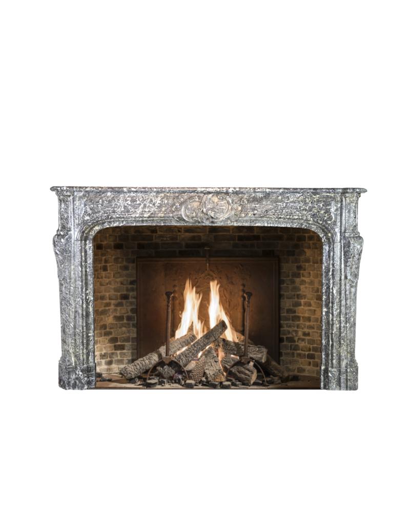 Grand Belgian Antique Marble Fireplace Surround