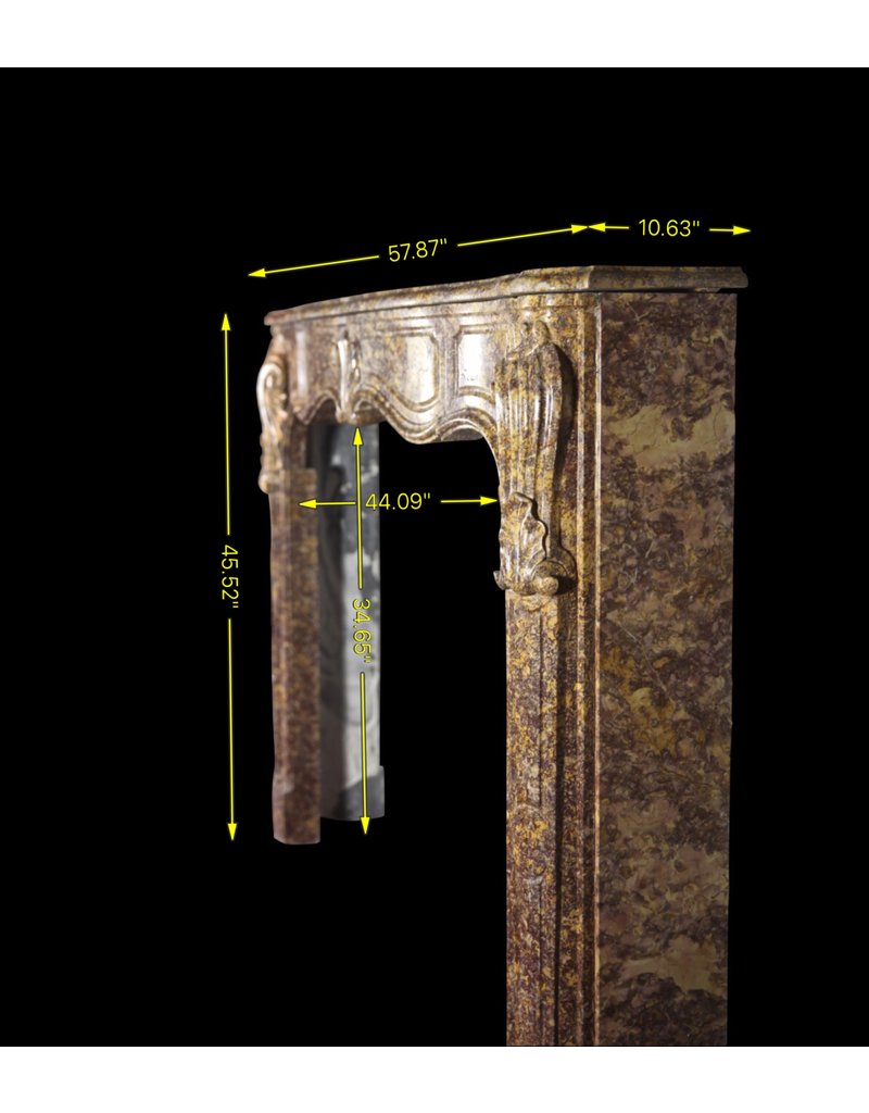 Grand Interior Des 18. Jahrhunderts Marmor Kamin-Mantel