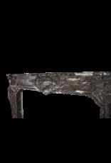 Große Belgische Antike Kamin Maske In Rochefort Marmor