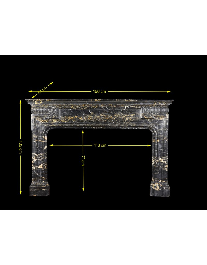 The Antique Fireplace Bank Biedermeier Period Antique Fireplace Surround In Port D'or Marble