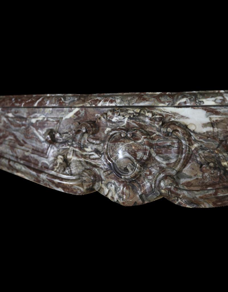 Belgischen 18. Jahrhundert Klassische Brown Marmor Kamin Maske