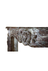 Belgian 18Th Century Classic Brown Marble Fireplace Surround
