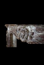 The Antique Fireplace Bank Belgischen 18. Jahrhundert Klassische Brown Marmor Kamin Maske