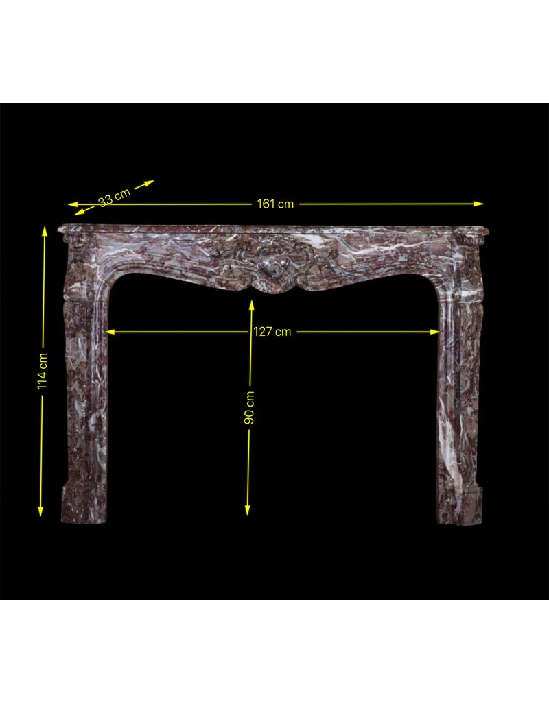 The Antique Fireplace Bank Belgian 18Th Century Classic Brown Marble Fireplace Surround