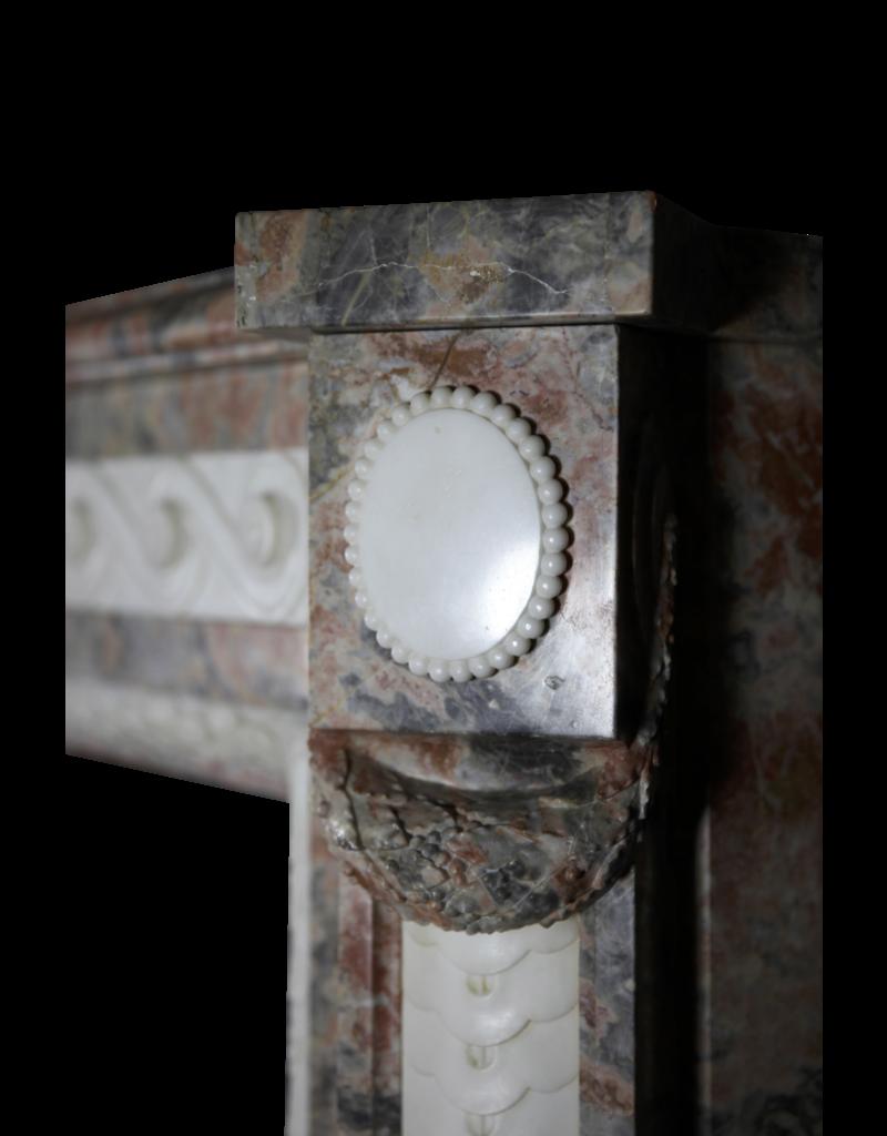 Extreme Weit Marmor Antike Belgische Kamin Maske
