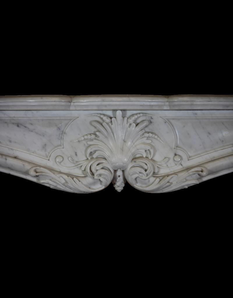 19. Jahrhundert Groß Französisch Marmor Kamin Maske