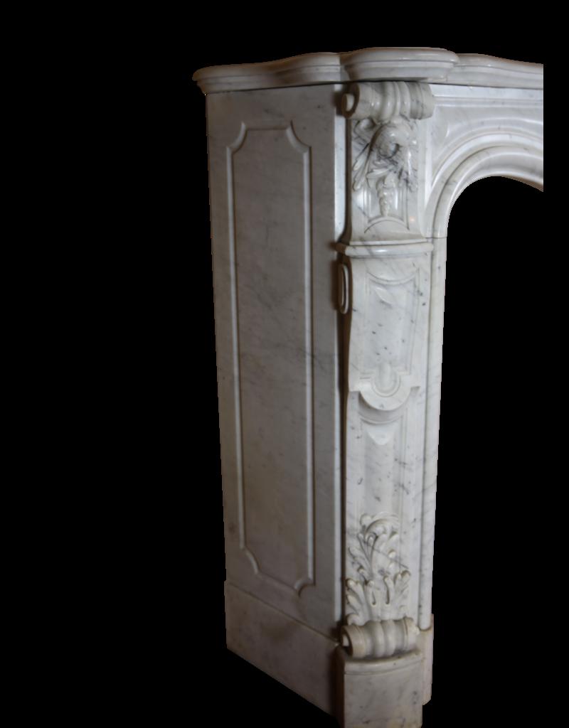 19. Century Grand Französisch Marmor Kamin Maske