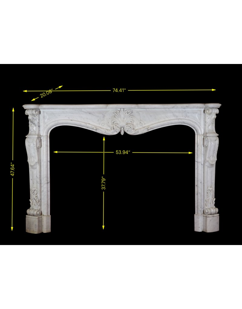 19Th Century Grand French Marble Fireplace Surround