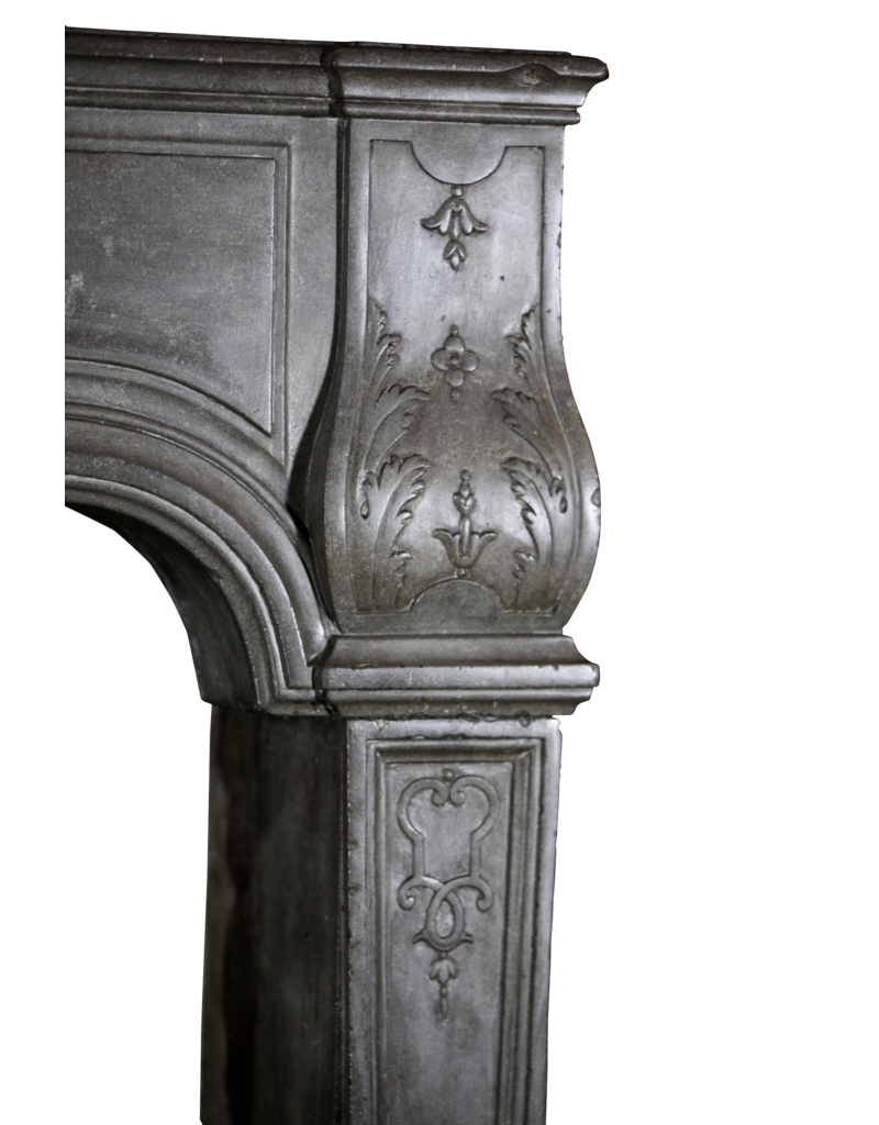 Delicate French Antique Fireplace Mantle