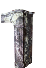 Paris Monumental Antike Kamin Maske In Brêche Violet Marmor