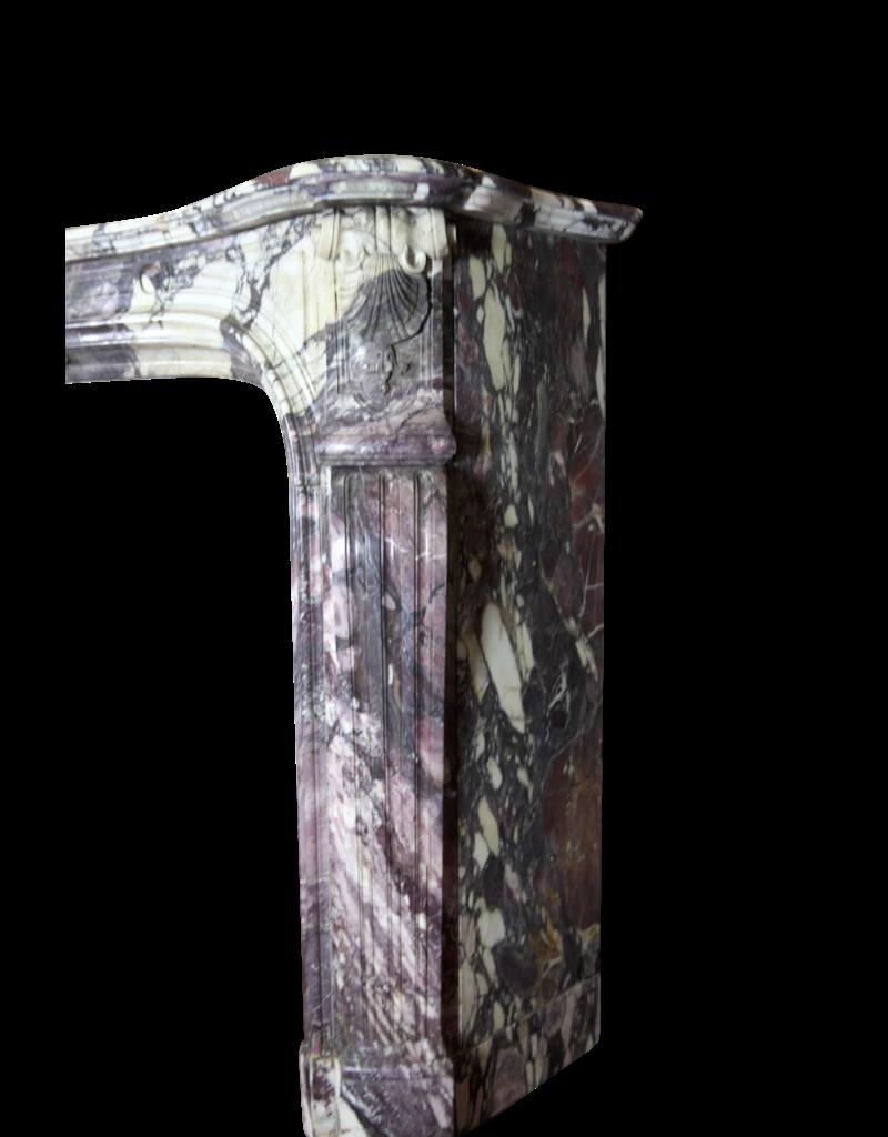 Parisian Monumental Antique Fireplace Surround In Brêche Violet Marble