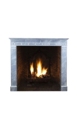 Exceptional Vintage Fireplace Surround In Marble