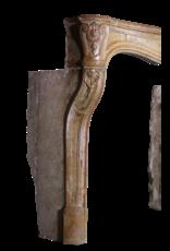 Einer Der Art Französisch Antik Kamin Maske